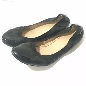 COLE HAAN Slip On Ballet GILMORE Black Flats 8.5B